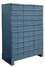 "60 Drawer Modular Cabinet with 17"" Deep Drawers"