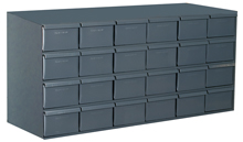"Modular Cabinet - 33-3/4""W x 17-1/4""D x 17""H, 24 Steel Drawers"