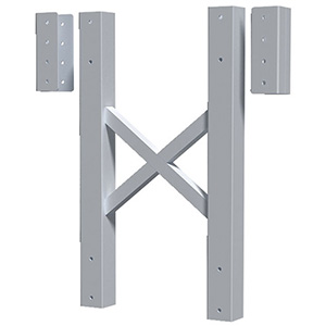"Modular Tower Support - 5 Step, 26""W x 4""D, Stacking Extension"
