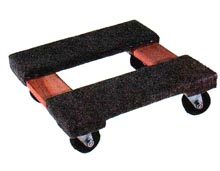 "Dolly w/ Carpet End Pads - 16""W x 16""H, 1000 lbs. cap."