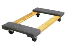 "Dolly w/ Carpet End Pads - 18""W x 30""H, 1000 lbs. cap."