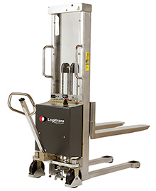 "Stainless Steel Stacker - 112"" Lift Height, Electric Lift"