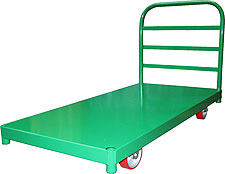"30"" x 60"" Steel Platform Truck with 10"" x 3-1/2"" Full Pneumatic Wheels"