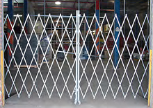 "Double Economy Folding Gate - 8' to 10' Wide, 6' 6"" Collapsed Height, 6' In-Use Height"