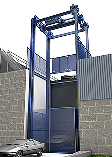 Mechanical Vertical Lift, Series F - up to 30,000 lbs. cap. and 400 fpm
