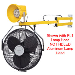 "LED Module Work Light w/ 18"" Fan & Aluminum Lamp Head- 60"" Arm"