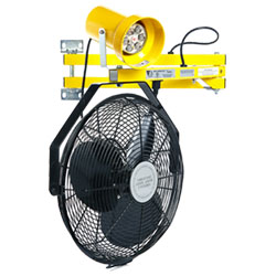 "LED Module Work Light w/ 18"" Fan & Metal Lamp Head- 40"" Arm"