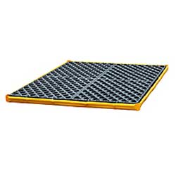 "Low-Profile Flexible Spill Deck, 4-Drum - 48""L x 48""W x 2-1/2""H, Capacity: 6,000 lbs., 22 gal."