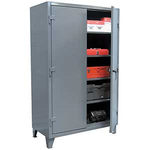 "Storage Cabinet with 4 Adjustable Shelves - 60""w x 24""d x 72""h"