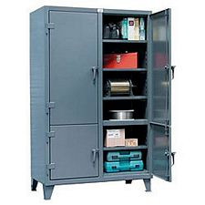 "Four Compartment Cabinet with Adjustable Shelves - 48""w x 24""d x 72""h"