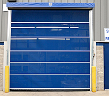 Mesh Dock Door  - Chain Hoist Lift, 8'x8'