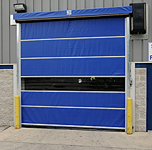 Vinyl Dock Door  - Chain Hoist Lift, 12'x12'