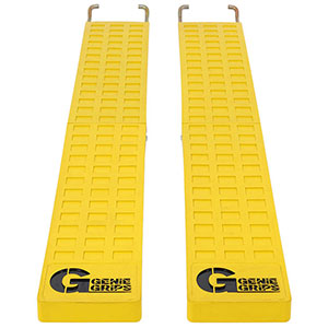 "Anti-Slip Rubber Forklift Tine Covers - 4""W x 48""L"