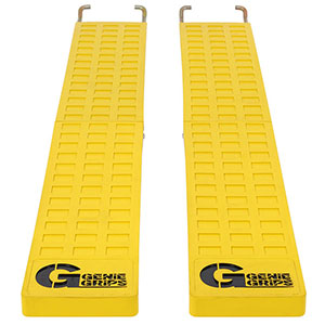 "Anti-Slip Rubber Forklift Tine Covers - 5""W x 72""L"