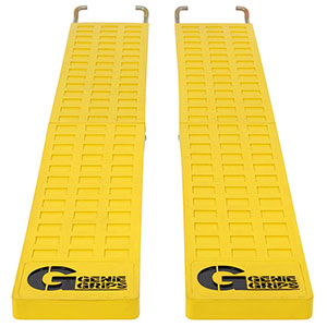 "Anti-Slip Rubber Forklift Tine Covers - 6""W x 54""L"