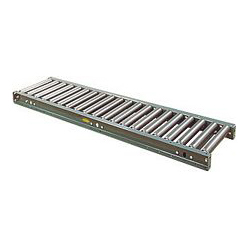 "1.9"" Galvanized Roller Conveyor - 10' long, 34"" OAW on 2-1/4"" roller centers"