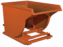 Self-Dumping Hopper: Formed Base, 1 Yd Volume Cap.; 6,000 lbs. Cap.