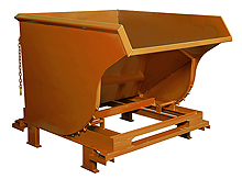 Self-Dumping Hopper: Structural Base, 3 Yard Volume Cap., 5,000 lb. Cap.