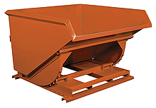 Self-Dumping Hopper: Low Profile, 2-1/2 Yard Volume Cap., 6,000 lb. Cap.