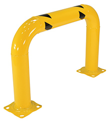 "Steel Machinery Guard - Yellow - 36""W x 24""H, 4"" diameter"