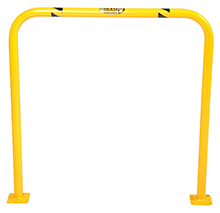 "Steel Machinery Guard - Yellow - 36""W x 36""H, 2"" diameter"