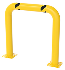 "Steel Machinery Guard - Yellow - 36""W x 36""H, 4"" diameter"