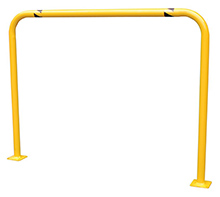 "Steel Machinery Guard - Yellow - 48""W x 36""H, 2"" diameter"