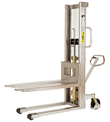 "Stainless Steel Stacker - 63"" Lift Height, Manual Lift"