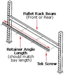 Retainer Angle - High Profile Span Track, 84""