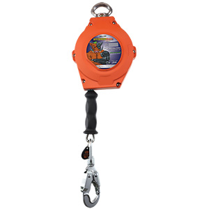 Self Retracting Fall Protection Lanyard, 30' Cable, 420 lb. Capacity, ANSI Class A & B