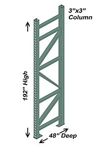 Cisco Eagle Catalog Pallet Rack Upright 3 Quot X3 Quot Post 48