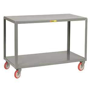 "Mobile Table - 1,000 lb. Capacity, 2 Shelves, 24""W x 48""L x 34""H"