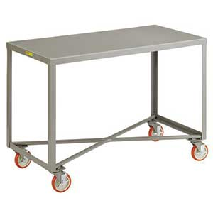 "Mobile Table - 1,000 lb. Capacity, 1 Shelf, 24""W x 60""L x 34""H"