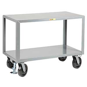 "Mobile Table - 5,000 lb. Capacity, 2 Shelves, 36""W x 72""L x 36""H"