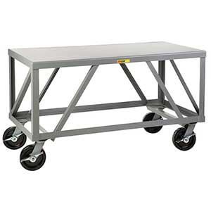 "Mobile Table - 5,000 lb. Capacity, 1 Shelf, 36""W x 72""L x 34""H"