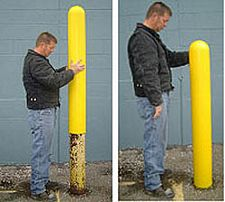 "65"" Bumper Post Sleeve for 6"" diameter post"
