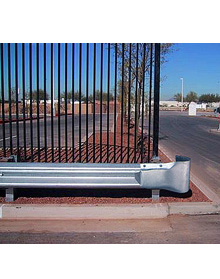 "Highway Style Guardrail - Round Ends  - 53'L x 16-1/2""H x 12""D"