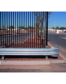 "Highway Style Guardrail - Flared Ends  - 53' 6""L x 16""H x 9""D"