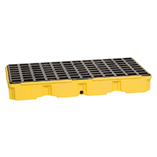 Spill Control Modular Platform, 2 Drum - Yellow, with Drain
