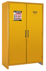 "90-Minute Fire Resistant Safety Storage Cabinet - Double Door, 47""W x 24-1/4""D x 76-5/8""H"