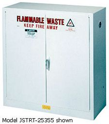 Flammable Waste Safety Cabinet - 65 x 43 x 18 - 2 door, self-close  w/ Sure-Grip Handle, 45-gal.