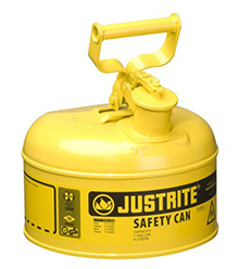 "Type I Yellow Flammables (Diesel) Safety Can, 1-gal., 9-1/2"" x 11"""