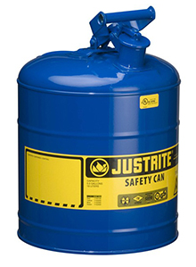 "Type I Blue Flammables (Kerosene) Safety Can, 5-gal., 11.5"" x 17"""