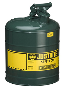 "Type I Green Flammables (Oils) Safety Can, 5-gal., 11-3/4"" x 16-7/8"""