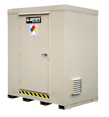 "2-Hour Fire Rated Outdoor Safety Locker - 6 Drum Capacity, 95""W x 66""D x 97""H"