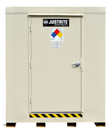 "2-Hour Fire Rated Outdoor Safety Locker - 16 Drum Capacity, 119""W x 114""D x 97""H"
