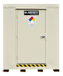 "4-Hour Fire Rated Explosion Relief Outdoor Safety Locker - 4 Drum Cap., 71""W x 66""D x 75""H"