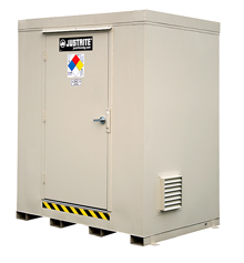 "4-Hour Fire Rated Outdoor Safety Locker - 6 Drum Capacity, 95""W x 66""D x 97""H"