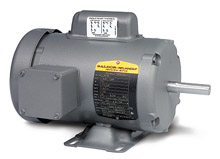 Motor - 1 HP, 115/230/1 - 3,600 RPM, TEFC, FT-MTD, 56 NEMA Frame, 12.93-in. C Dim.