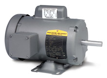 Motor - 1 HP, 115/230/1 - 1,200 RPM, TEFC, FT-MTD, 184 NEMA Frame, 15.69-in. C Dim.